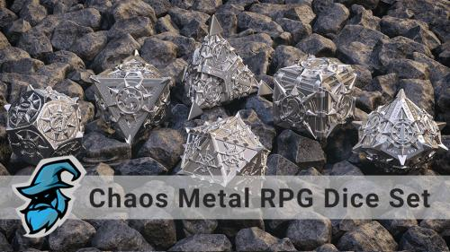 The Path of Chaos Metal RPG Dice Set