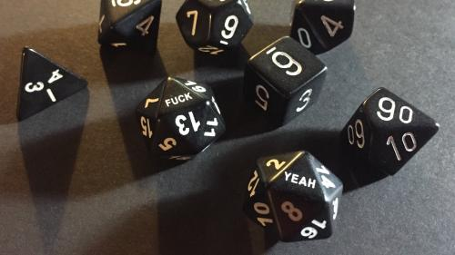 Fuck Yeah 20 Sided Dice (D20)
