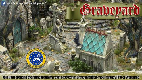 Tabletop World s Graveyard - 28-32mm modular resin terrain