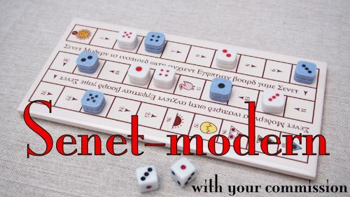 Senet-modern and customize board with your commission