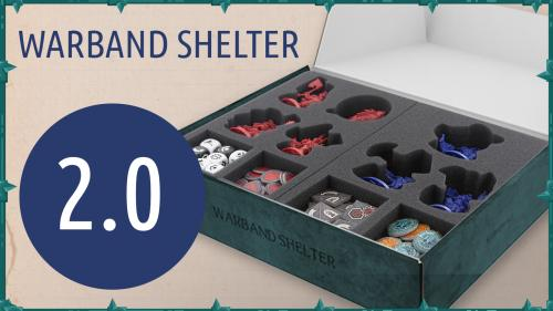 Warband Shelter with foam trays for Shadespire miniatures