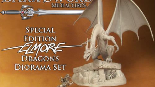 Dark Sword Miniatures Special Edition Elmore Dragons Diorama