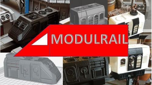 Modurail - 3D printable Future Monorail for 28mm Wargames