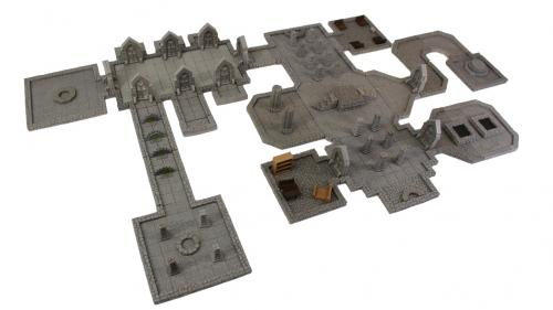 Stackable Modular Magnetic Terrain for tabletop RPGs