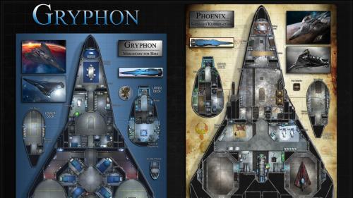 Gryphon: Starship Map & Miniature