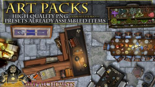 RPG Art pack presets for GM S and Artist Mappers