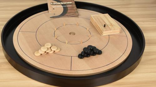 Crokinole 2018 Beech Hardwood 2-4 Player Dexterity Game