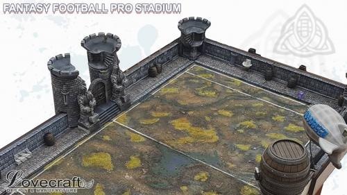 Fantasy Football Pro Stadium Scenery and Dice Towers