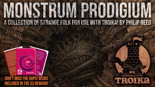 Monstrum Prodigium, a Third-Party Troika! RPG Zine