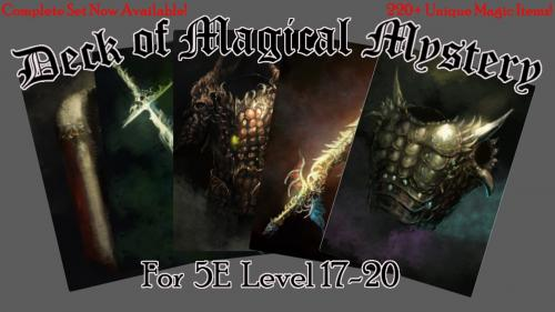 Deck of Magical Mystery: Tier 4, 5E Compatible