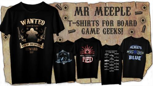 Mr Meeple Board Game Shirts - Season Two