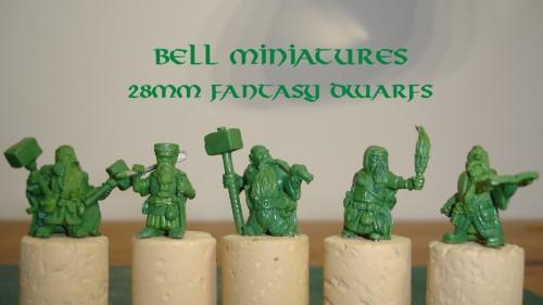 Bell Miniatures 28mm Fantasy Dwarfs