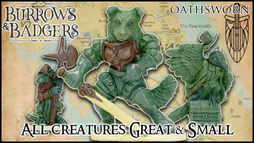 Burrows & Badgers: Great & Small anthro minis by Oathsworn