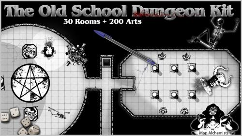 The Old School Dungeon Kit for RPG Maps