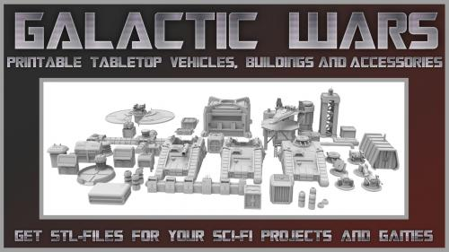 Galactic Wars - printable tabletop vehicles and items