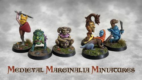 Medieval Marginalia Miniatures