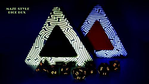 Maze-style dice box