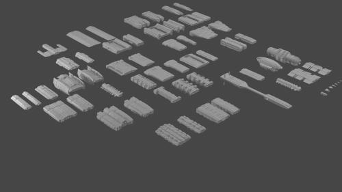 30+ Printable Modular Space Ship Miniatures