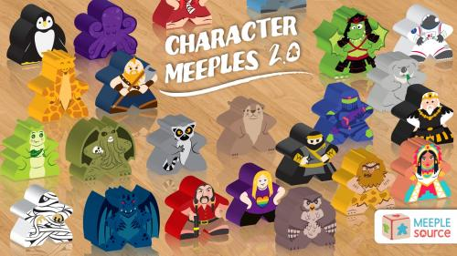 Character Meeples (2.0) - Upgrade Your Gaming Experience!