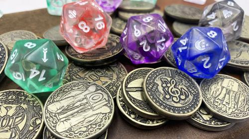 Metal Gaming Coins and Dice: Class Series by D20 Collective