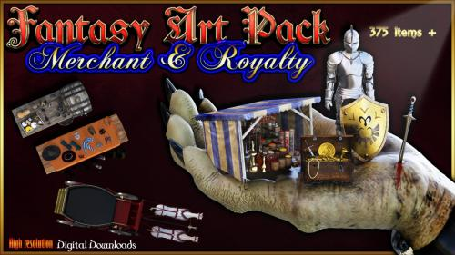 Fantasy Art pack to create your own maps: Merchant & Royalty