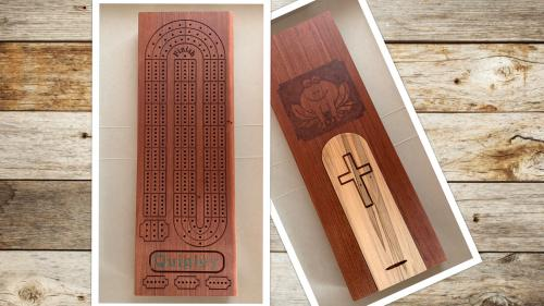 Customized Hardwood Cribbage Board -- MAKE 100
