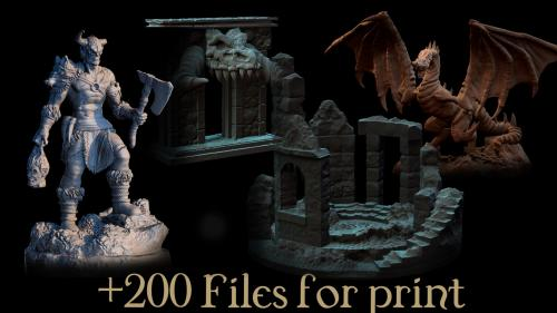 Vikings, Dwarvens & Ruins : Printable Miniatures and Terrain