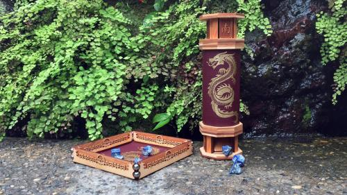 Scroll and Codex: Dice Tower and Rolling Tray