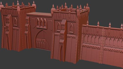 Super Quick Print Sci Fi Gothic 3d Printable Terrain
