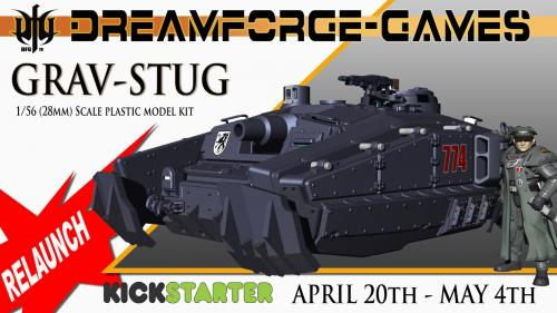 DreamForge-Games Grav-StuG tank model with STL file terrain