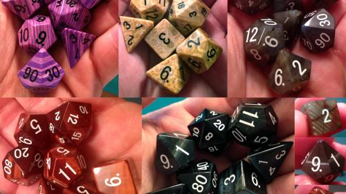Gemstone Dice: Labradorite, Tiger s Eye, Fossil, and More!