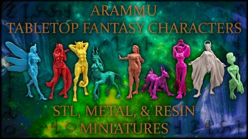 Arammu - Tinar: Fantasy Metal/Resin Minis & 3D Print files