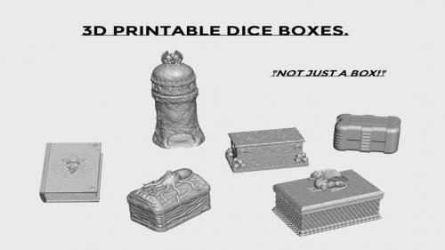 3d Printable Dice Boxes.