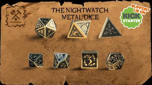 Fantasydice Nightwatch Metal Dice