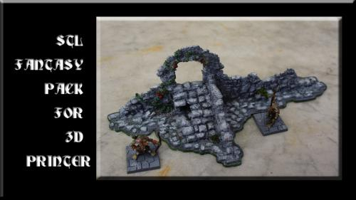 3d Printable Files STL for Fantasy Scenery 28mm - Tabletop Analytics