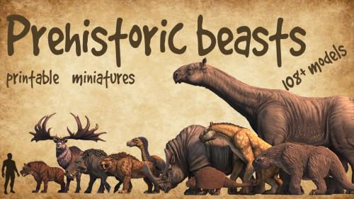 Tamed and Wild Ones- prehistoric Beasts and Terrains!