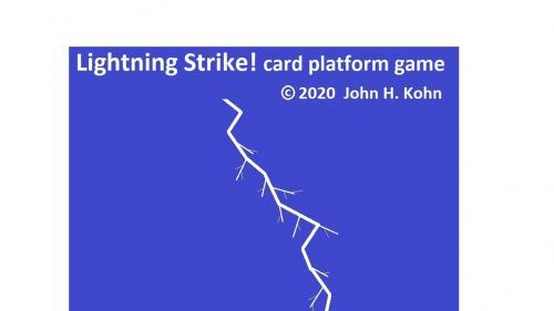 Lightning Strike! card platform game (manufactured)