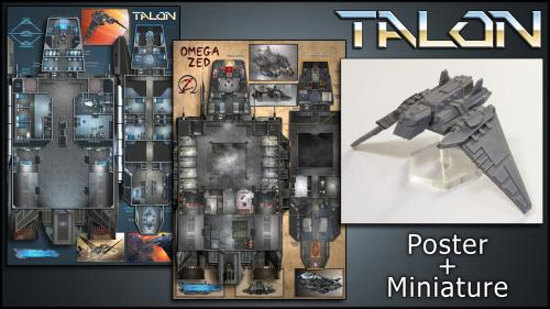 Talon: Starship Map & Miniature