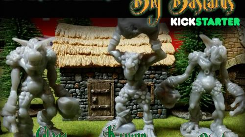 Big Bastards:80mm Troll Miniatures for 28mm scale games!