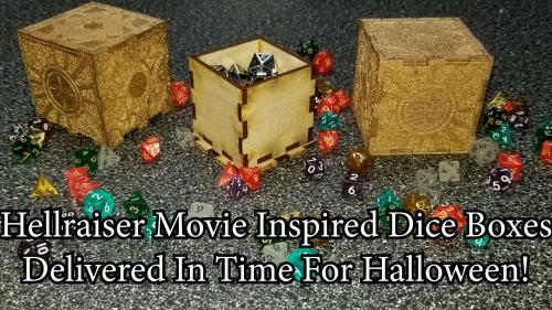 Hellraiser inspired dice boxes