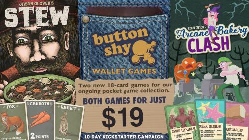 Button Shy Wallet Games: Stew & Arcane Bakery Clash
