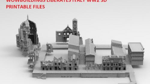 WOW Buildings Liberates Italy 3D printable stl files