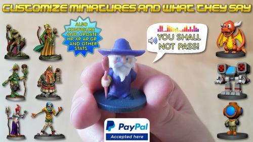 Talking Smart Full Color Customizable Miniatures
