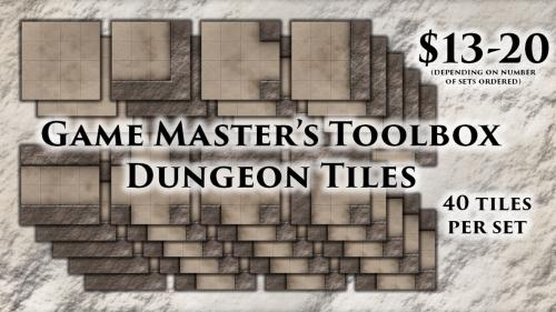 "Fantasy 1"" Grid Dungeon Tiles for Tabletop RPGs Only $13!"