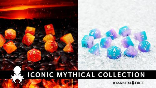 Iconic Mythical Collection RPG Dice Sets by Kraken Dice