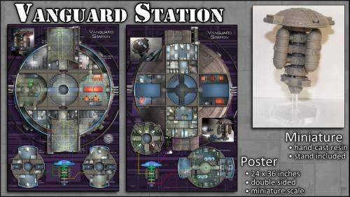 Vanguard Station: Map Poster & Miniature