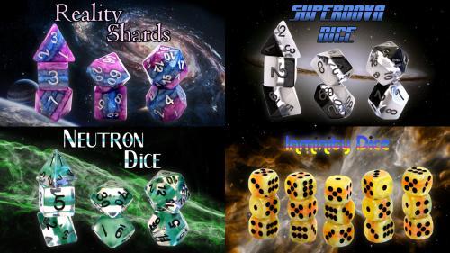 Reality Shard, Supernova, & Neutron RPG Dice Sets