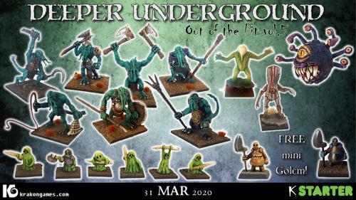 Deeper Underground: Dungeon miniatures