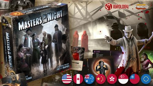 Masters of the Night: solo and cooperative vampire boardgame