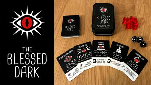 The Blessed Dark - A Cult-Themed Mint Tin Card + Dice Game